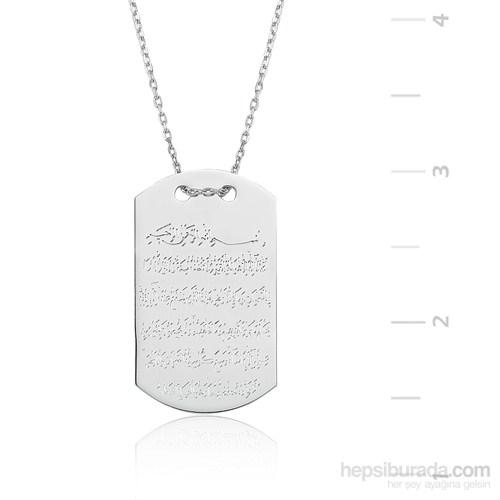 Gumush Gümüş Kalpli Kelebek Kolye