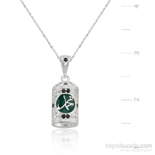 Gumush Gümüş Muhammed Yazılı Muska Kolye