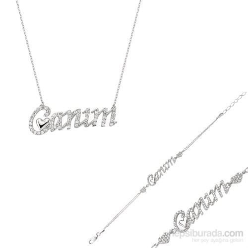 Gumush Gümüş Canım Kalp Set
