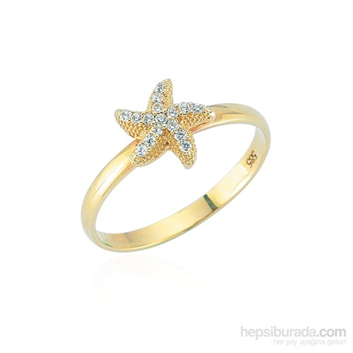 Glorria 14 Ayar Altın Deniz Yıldızı Yüzük