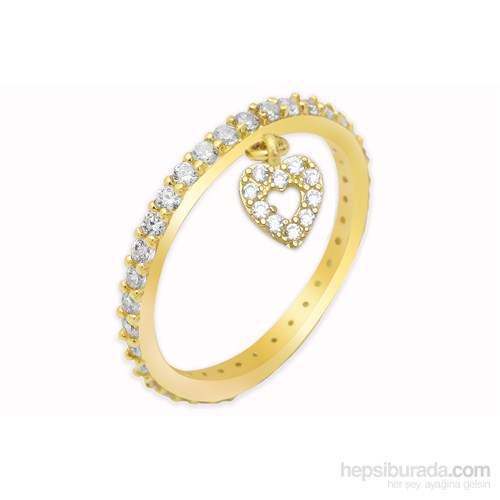 Melis Gold Tamtur Kalpli Yüzük Ay0000259