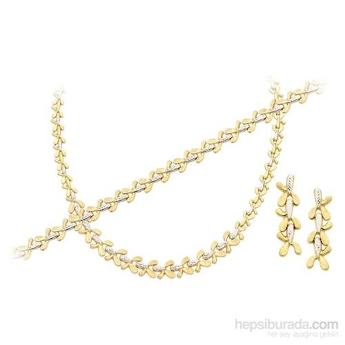 Melis Gold Altın Düğün Nişan Takı Seti Ds00050