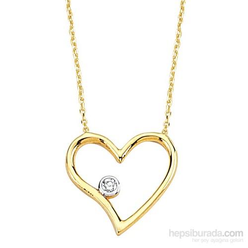 Melis Gold Altın Kalpli Kolye Kly00751
