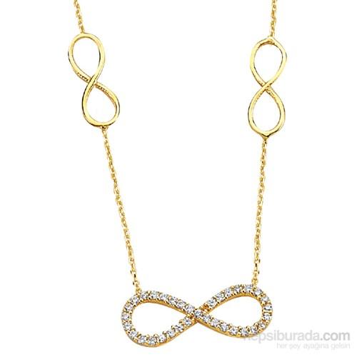 Melis Gold Altın Sonsuz Kolye Kly00757