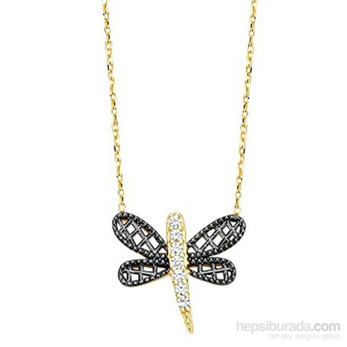 Melis Gold Altın Kelebekli Kolye Kly00790