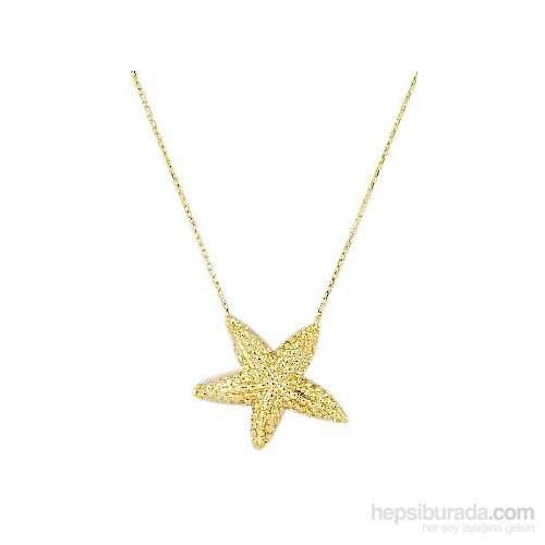 Melis Gold Altın Yıldız Kolye Kly00816