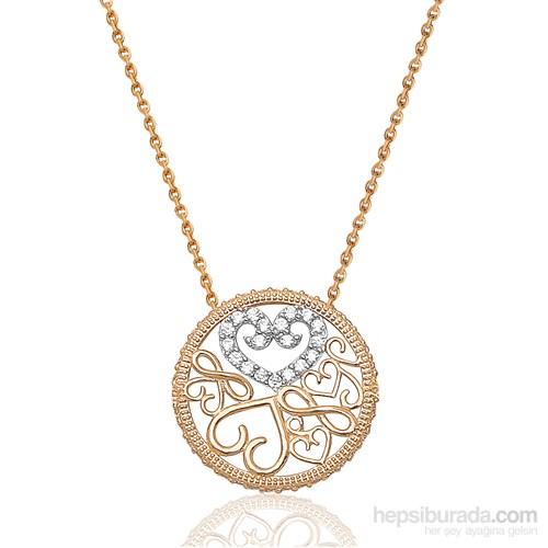Melis Gold Altın Kalpli Sonsuz Kolye Kly00826