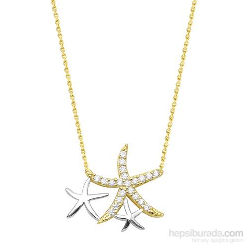 Melis Gold Altın Deniz Yıldızı Kolye Kly00843