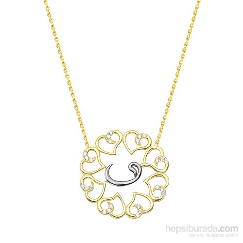 Melis Gold Altın Vav Kolye Kly00856