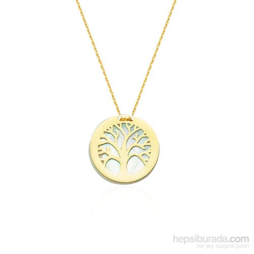 Glorria 14 Ayar Altın Sedefli Hayat Ağacı Kolye