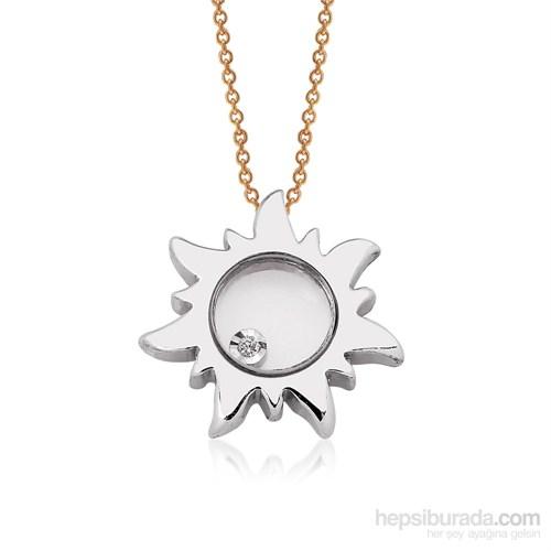 Altınsepeti Pırlantalı Gümüş Güneş Kolye Mf021970
