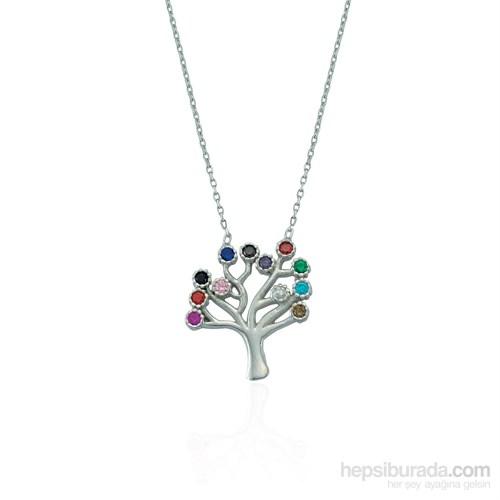 Glorria 925 Ayar Gümüş Hayat Ağacı Kolye