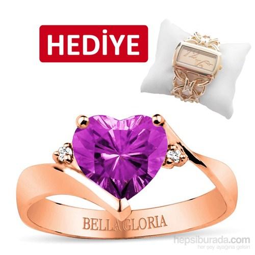 Bella Gloria Ametist Roz Aşk Yüzüğü (GPY0043)