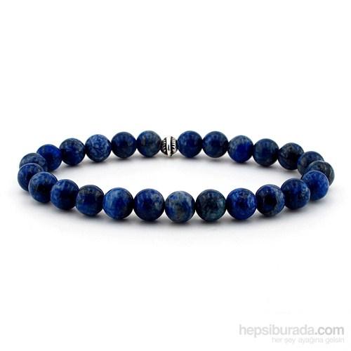 Solfera Doğal Lapis Lazuli Taşından Lacivert Erkek Bileklik