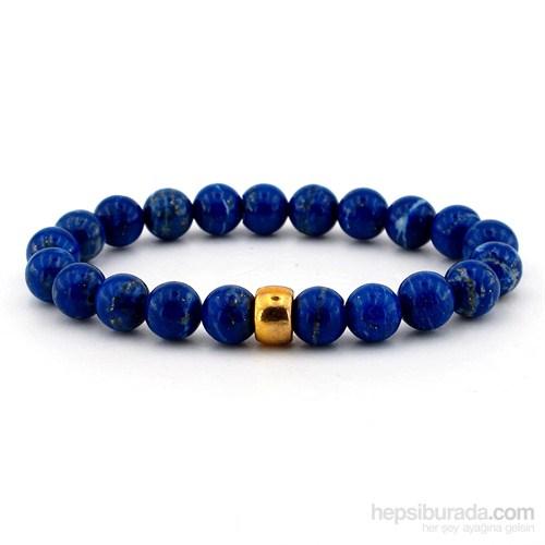 Solfera Lapis Lazuli Simli Doğal Taş Bayan Bileklik