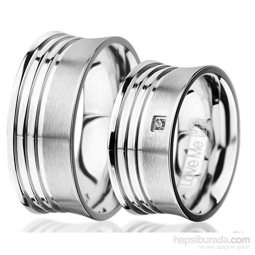 Berk Kuyumculuk Çelik Alyans LM-015W (Çift Fiyatı)