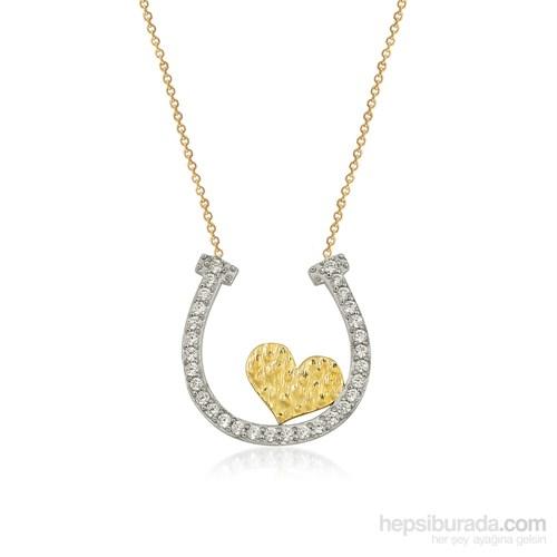 Altınsepeti Altın Kalpli Nal Şans Kolyesi As835kl
