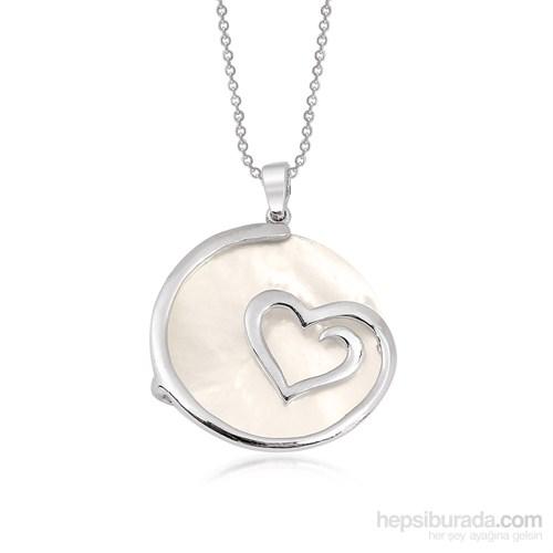 Altınsepeti Gümüş Sedefli Kalp Kolye G369kl