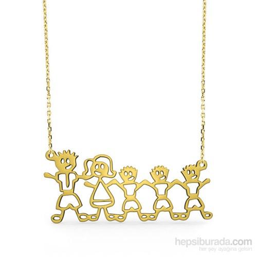 Goldstore 14 Ayar Altın Aile Kolye Gp37335