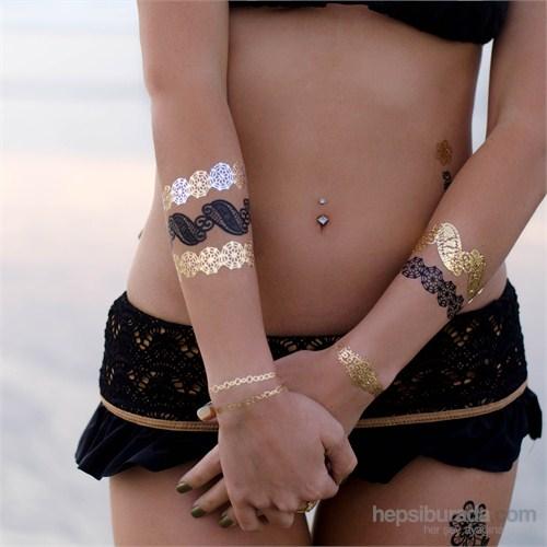 Chıctat No Gossıp! Mücevher Dövme Takı 4 adet 14*21 cm