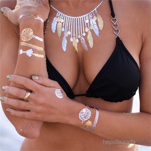 Chıctat Venıce Beach Mücevher Dövme Takı 4 adet 14*21 cm