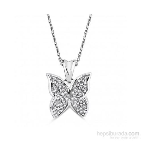 Aslaner Gümüş Kelebek Kolye