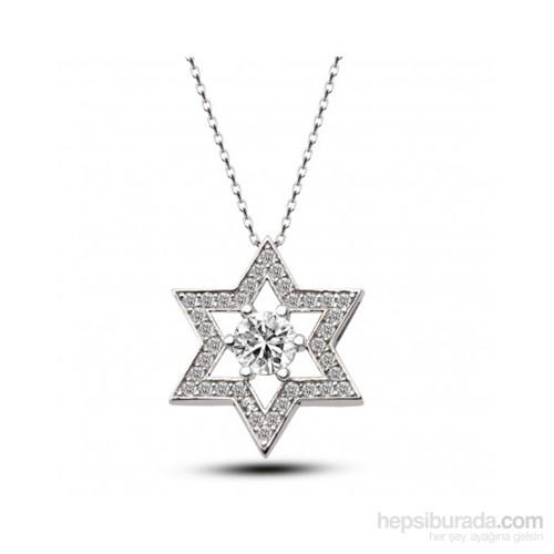 Aslaner Davut Yıldızı Figürlü Gümüş Kolye