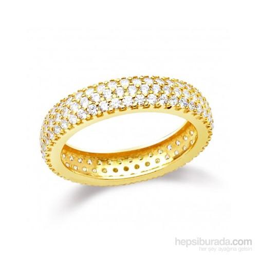 Aslaner Üç Sıra Tamtur Gümüş Alyans - Gold