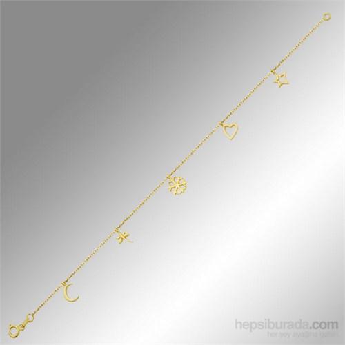 Sheamor Kar Tanesi Kalp Yıldız Yusufçuk Hilal Altın Bileklik