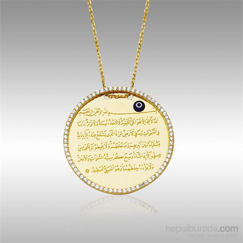 Sheamor Ayet-El Kürsi Taşlı Altın Kolye