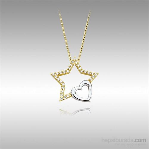 Sheamor Yıldız Kalp Altın Kolye