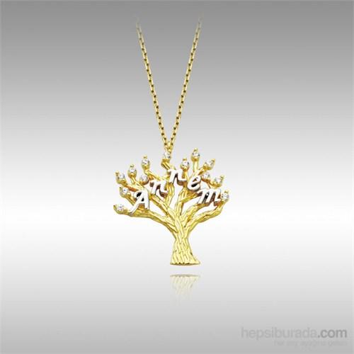Sheamor Annem Ağaç Altın Kolye