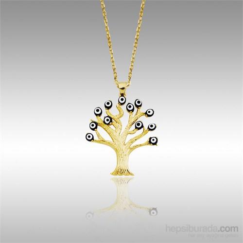 Sheamor Nazar Boncuğu Ağaç Altın Kolye
