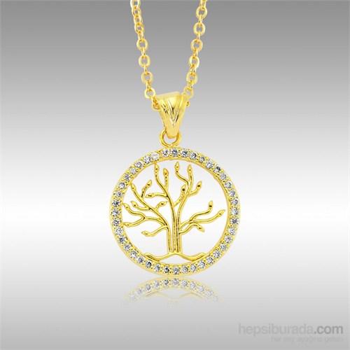 Sheamor Ağaç Altın Kaplama Kolye