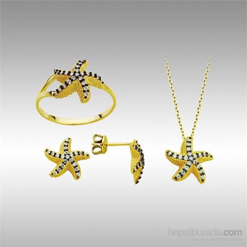 Sheamor Deniz Yıldızı Üçlü Altın Set