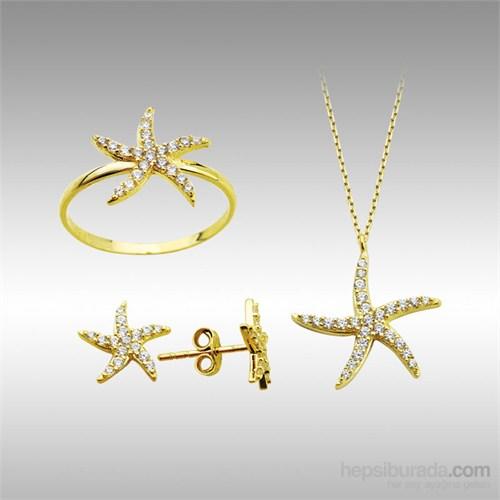 Sheamor Sarı Deniz Yıldızı Altın Set