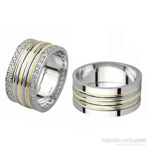Ejoya Gümüş Çift Alyans P1073