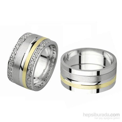 Ejoya Gümüş Çift Alyans P1075