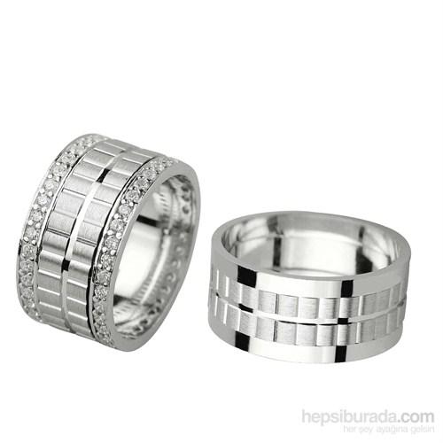 Ejoya Gümüş Çift Alyans P1030