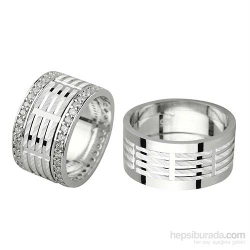 Ejoya Gümüş Çift Alyans P1054