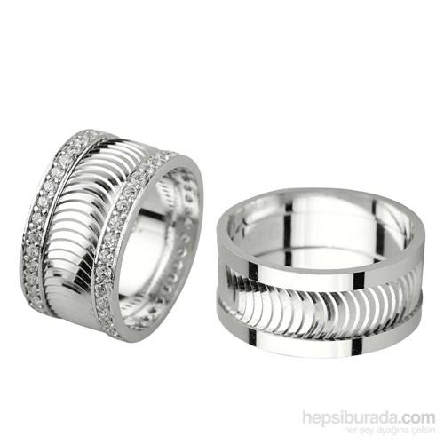 Ejoya Gümüş Çift Alyans P1080