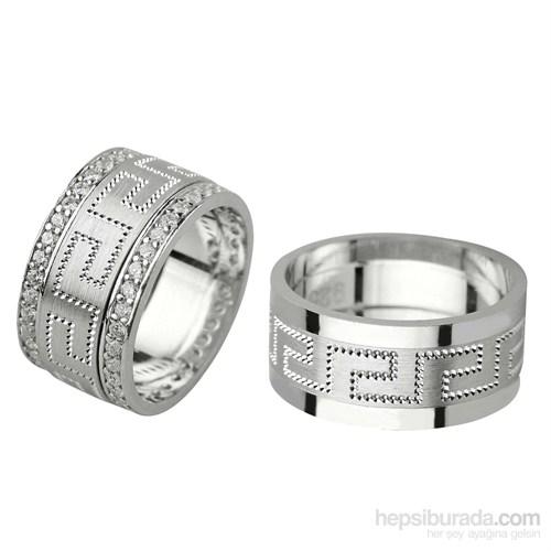 Ejoya Gümüş Çift Alyans P1094