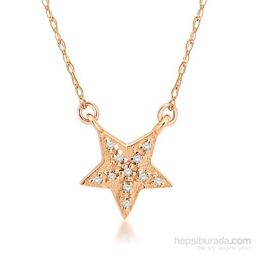 Melin Paris Altın Pırlantalı Yıldız Kolye