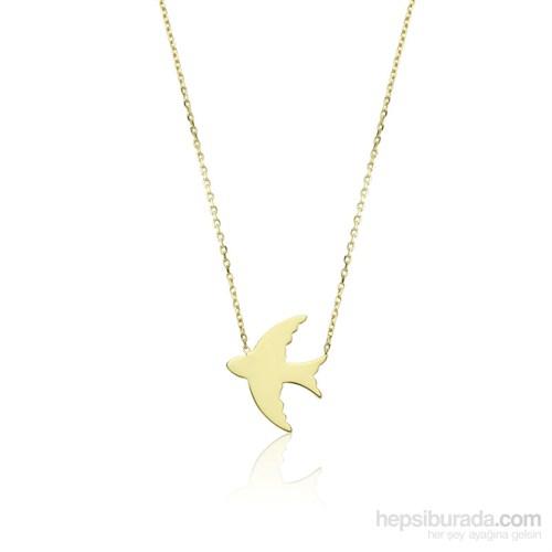 Diva Pırlanta Altın Güvercin Kolye