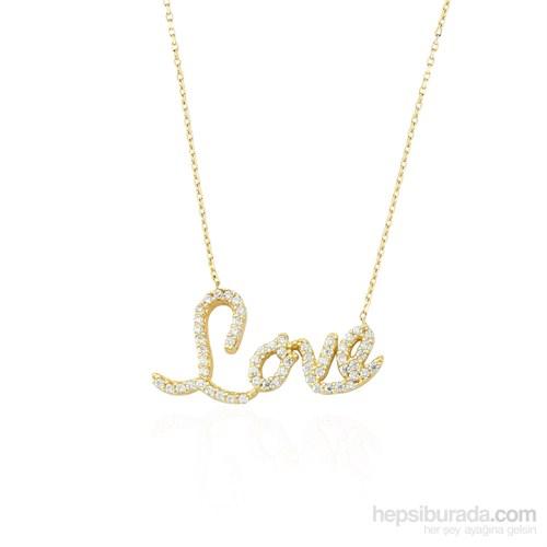 Glorria 14 Ayar Altın Love Kolye