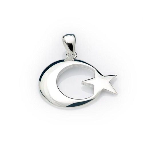 GUMUSH 925 Ayar Gümüş Ay-Yıldız Kolye Ucu | PND99040014