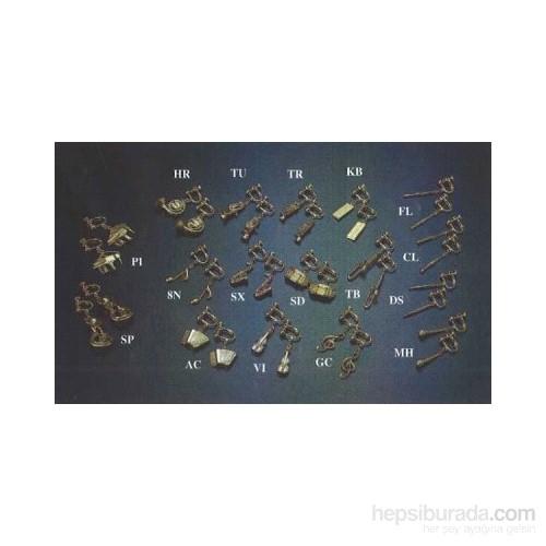 Gümüş - Altın Kaplama Enstrümanlı Küpe Çeşitleri