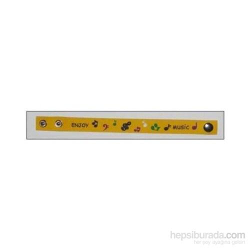 Notalı Sarı Pvc Bileklik
