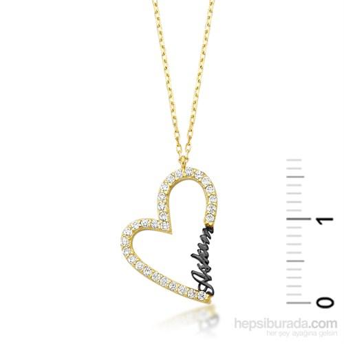 Diva Altın Kalp Aşkım Kolye