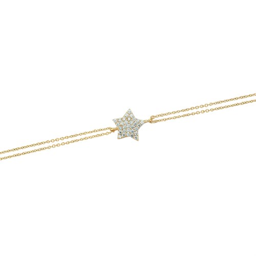 Glorria 14 Ayar Altın Yıldız Bileklik